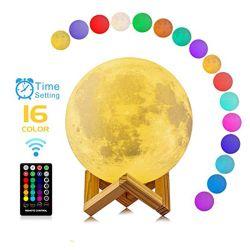 De Verre 16 Kleuren van de aanraking 15cm en 8cm 3D Lamp van de Maan van de Printer voor Jonge geitjes