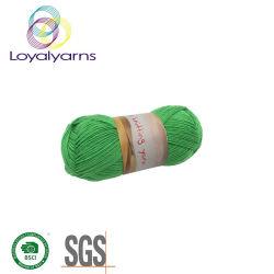 L'acrylique/laine mélangée de fils de laine en acrylique de gros pour le tricotage et de tissage Ly-A332