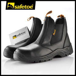 CE 認定中古車作業安全靴、スチールトー付き男性および女性用価格、本革オイル抵抗安全靴製造業者(産業作業者向け)