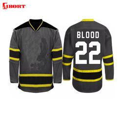 Aibort format personnalisé de qualité supérieure de Hockey sur glace avec dentelle pratique Jersey Jersey (hockey Jersey 017)