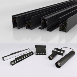 DC48V 48 volt di alta qualità ha incluso l'indicatore luminoso lineare magnetico messo lineare della pista del magnete modulare LED di Dali della guida di 16mm del soffitto lineare magnetico 38mm di Trimless