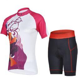 Populares Sublimação Personalizado impresso respirável mulheres Aluguer de Bicicleta de roupas de Desgaste