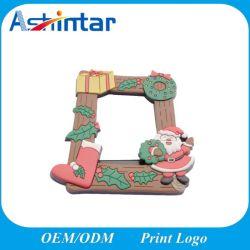 Professional Custom Cartoon 3D frigorífico PVC Moldura Fotográfica Magnético