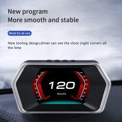 새로운 HUD OBD2 + GPS P17 디스플레이 미터 차량 HUD OBD2 헤드 UP 디스플레이 속도계 스마트 게이지 자동 진단 도구 HUD