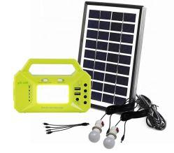 12 V 小型ソーラーキットラジオ /LED スクリーン / SD カード /MP3/USB モバイル充電器をサポート