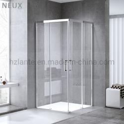 Cer bestätigte europäischen Entwurf, den quadratische schiebende Badezimmer-Dusche-Kabine mit abhärten Glas (L5502-B)