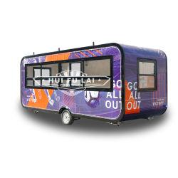 Certificación CE móvil quiosco de comida rápida al aire libre camión contenedor cafetería para la venta