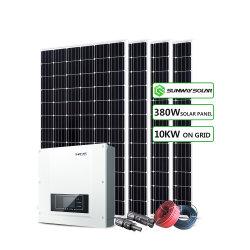 Sunway 10kw 20kw اللوحة الشمسية الطاقة منزل الطاقة معايير الاتحاد الأوروبي الولايات المتحدة الطاقة الكهروضوئية الشمسية على نظام الشبكة