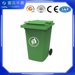 Robuste Ausführung HDPE 240L Outdoor Kunststoff Street Waste Wheelie Papierkorb Kann