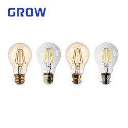 China Factory LED Edison-gloeilamp A60, 4 W/6W/8W/9W/10W, vintage lamp 1800K-6000K Amber Clear Glass-lamp voor thuisgebruik met 2 jaar garantie
