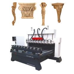 Chaise de bureau Meubles canapé jambes routeur 3D de sculpture sur bois de la machine CNC multi chefs 4 axes CNC routeur rotatif