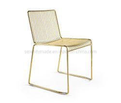 حديثة مقهى أثاث لازم [متل وير] ذهبيّة يتعشّى كرسي تثبيت