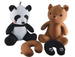 2 in 1 cuscino animale del collo di corsa dei capretti puerili di figura di U e di figura dell'orso del panda