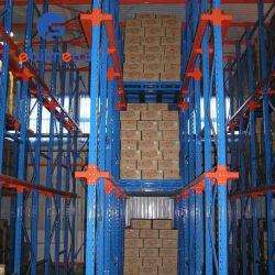 Rack de aço pesado do sistema de armazenamento de acionamento remoto ajustável no sistema de empilhar paletes