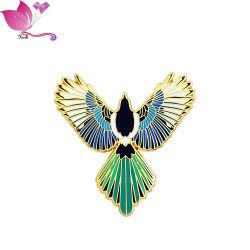 Custom сплава украшения Brooch золотых птиц Luky шарфом штифты безопасности хиджаба контакт