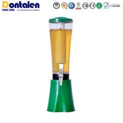نبيذ نبيذ من الجعة من Dontalen ويترأسه واحد، بالإضافة إلى مياه بلاستيكية، أنبوب داخل البرج المحمول موزّع معدات مبرد الملحقات