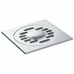 Современный дизайн хромированный душ пол слива