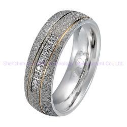 5 gramo Anillo de Oro Anillo de la moda de joyería de piedras preciosas plata esterlina 925