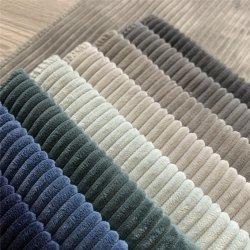 2021 قماش الألياف النسيجية المنزلية قماش Corduroy Polyester Fabric للمقاعد/ أثاث أريكة