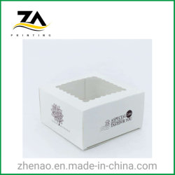 Documento quadrato all'ingrosso della scatola da pasticceria del cartone con la finestra