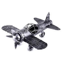 골동품 공예 수공예 자수 다리미 작은 공기 홈 장식 금속 비행기 모델