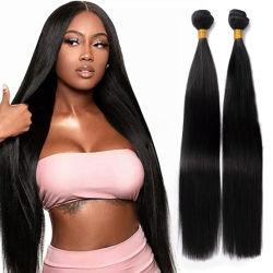 Kbeth кости прямо человеческого волоса для чернокожих женщин Мьянмы реального Virgin волос 100% Реми 10 дюйма и 40 дюймов Пользовательская длина мягкого человеческого волоса расширений питания на заводе
