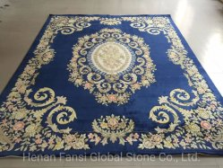 中国の製造業者の現代カーペットの花柄のパターン青いハンドフローテッドのカーペットの敷物