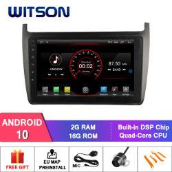 """Auto DVD des Witson 9 """" grosses Bildschirmandroid-10 für Volkswagen-Polo 2012"""