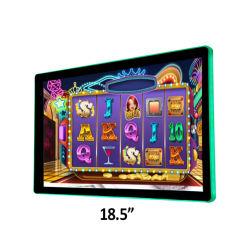 벽 선반 Vesa 마운트 18.5 인치 열린 구조 카지노 슬롯 룰렛 기계를 위한 16:9 측 LED 바 FHD 전시를 가진 전기 용량 10 점 접촉 스크린 위원회 모니터 LCD