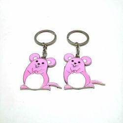 Glücklicher Reichtum ziehen chinesische rosafarbene neues Jahr-Tierkreis-MetallKeychain Schmucksachen der Maus2020 an