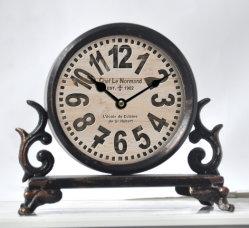 Alarme de ferro metálico Decoração relógio de mesa relógios de mesa