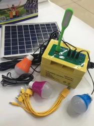 Venta caliente 20W Mini sistema de iluminación de la Energía Solar Portable DC Kit solar para uso doméstico