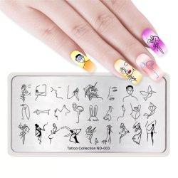 Nouvelle place personnalisée en acier inoxydable Stamping Nail Art Modèle de l'image