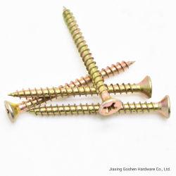 Ribs Tail 절단 칩보드로 매입한 St4.2 접시머리 나사