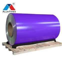 Série 1000 Série 3000 0,6Mm Bobina de alumínio revestido de cor
