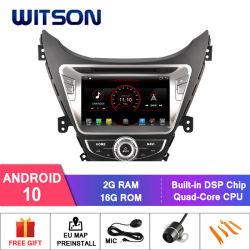 Processeurs quatre coeurs Witson Android 10 Lecteur de DVD de voiture pour Hyundai Elantra 2012 Microphone externe inclus, construit en fonction SSPP