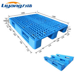 중부하 작업용 HDPE 스택형 랙 1.5t 강철 강화 플라스틱 팔레트 1,200X1000mm