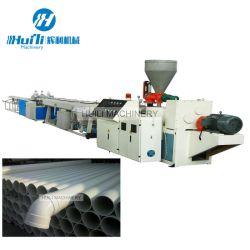 أنابيب بلاستيكية ممونية قابلة للصيانة من قِبل العملاء المحتمل تعرضهم للخدمة من قِبل العملاء (PVC) خط الطرد / جهاز صنع الأنابيب الكهربائية PVC