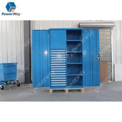 Powerway Factory Direct vendre Armoire en acier de stockage de dépôt de métal placard