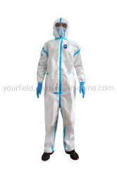 Manufacture Anti-Covid 19 Combinaisons de protection médicale Anti-Epidemic Blouse jetable