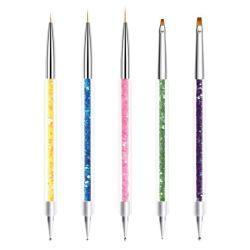 Kristallmetallgriff-Nylonhaar-Nagellack-Pinsel für reines Kolinsky Haar Acryli des Salon-Qualitäts-kundenspezifisches Firmenzeichen-Nagel-Pinsel-100%