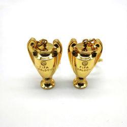 Custom 3D Deportes Trofeo Llavero de metal Mini Challenge Cup abanicos Llavero regalos