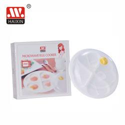 Kunststoff frisch Mikrowelle-Safe Egg Kochen Dampfgarer Herz-Form-Platte mit 4 Fächer Essteller BPA-frei