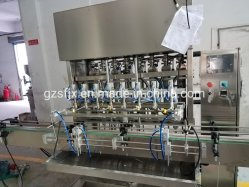 Vulmachine, petroleumgelei vulmachine, vulmachine voor chemicaliën voor vloeistoffen, koeling voor labelmachine lijn vaseline vullijn