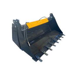 Опорные приспособления погрузчика с бортовым поворотом 4 в 1 ковш для продажи