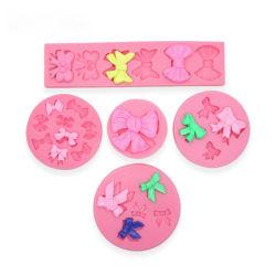 Fleur Bowknots Fondant au moule en 3D'Outil De Décoration cake en silicone