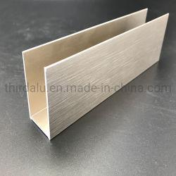 Profili di alluminio d'anodizzazione spazzolati dell'armadio da cucina per mobilia