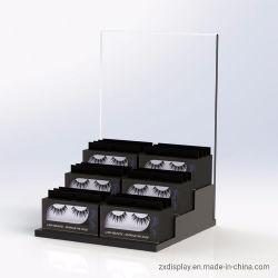 Falschen Wimper-Schönheits-Produkt-acrylsauerausstellungsstand für Speicher-Kostenzähler anpassen