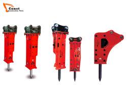 Oberseite/Bleistift-/Kasten-zum Schweigen gebrachter/seitlicher Typ Exkavator-hydraulischer Unterbrecher-Hammer für Verkauf