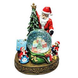 EXW 맞춤형 크리스마스 기념품 레진 산타클로스 맞춤형 스노우 지구본 워터 글로브